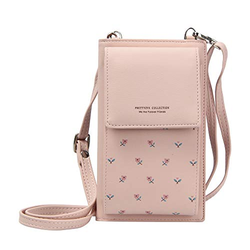 Kukoo Small Crossbody Bag Cell Phone Purse Wallet with Credit Card Slots for Women (Iphone 6 Bag)