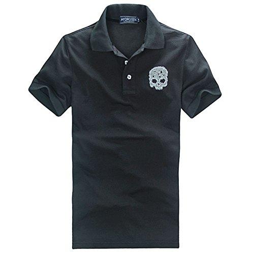 段落虹記録HYDROGEN ポロシャツ メンズ ゴルフ コットン 綿 100% 半袖 夏 刺繍 大きいサイズ 7583 [並行輸入品]