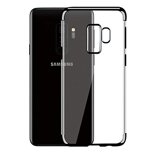 Galaxy S9 Plus Case [Frieso] Slim Heavy Duty Clear Cover Protection Case for Samsung Galaxy S9 Plus (2018)- Black