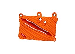 ZIPIT Monster 3-Ring Pencil Case, 4-Pack (Pink, Orange, Lime, Blue)