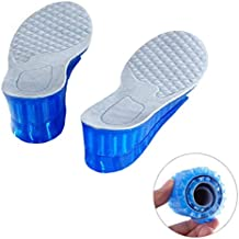 Kalevel Adjustable Breathable 5cm Approx 2 Inches 2-layer Height Adjustable Height Pure Silicone Invisible Increased Insoles Shoe Lifts Shoe Pads Elevator Insoles for Men (Size 6 -10) (Blue)