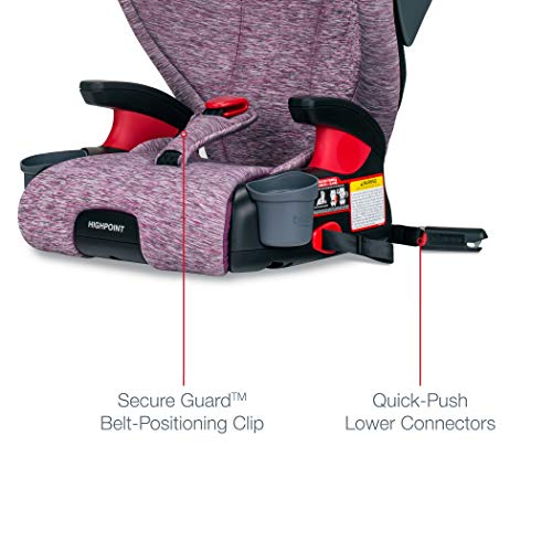 41DnIi8sZbL - Britax Highpoint 2-Stage Belt-Positioning Booster Car Seat - Highback And Backless | 3 Layer Impact Protection - 40 To 120 Pounds, Mulberry