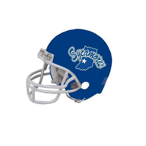 (CollegeFanGear Indiana State Riddell Replica Royal Mini Helmet 'Sycamores Offical Logo')