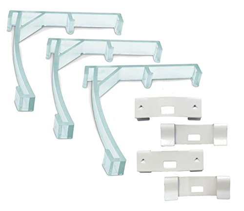 spotblinds Vertical Blind Repair Kit - Includes 3 Valance Clips & 4 Vane Savers (White Vane ()