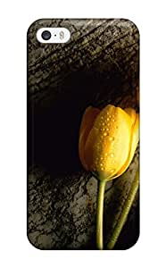 Best 7402643K26802224 Premium Yellow Tulip Back Cover Snap On Case For Iphone 5/5s