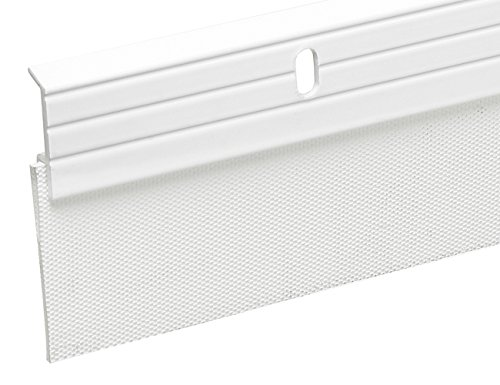 Frost King A79WHA Premium Aluminum and Reinforced Rubber Door Sweep 2-Inch by 36-Inch, White