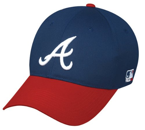 Atlanta Braves (Home/White A Logo) YOUTH (Ages Under 12) Adjustable Hat MLB Officially Licensed Major League Baseball Replica Ball Cap