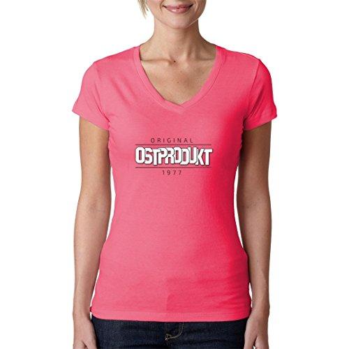 DDR Ossi Girlie V-Neck Shirt - Ein wahres Ostprodukt seht Ihr hier! by Im-Shirt Light-Pink 2bbMH