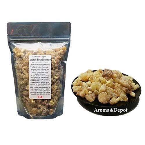 (Indian Frankincense Resin Organic Aromatic Tear Rock Incense Olibanum Gum Bulk (2Lb))
