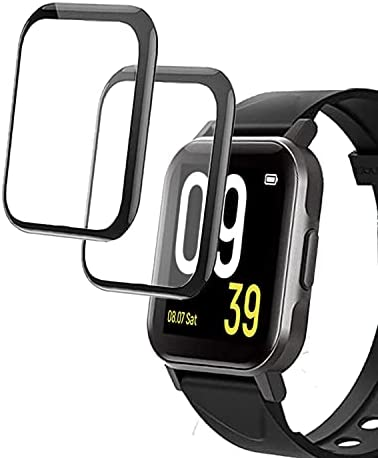 smaate 3D Screen Protector Compatible with Soundpeats 1.4inch smart watch, Watch 1, 2-Pack, Full Coverage, Curved Edge frame, Anti-Scratch, Anti-shatter, High Transparency