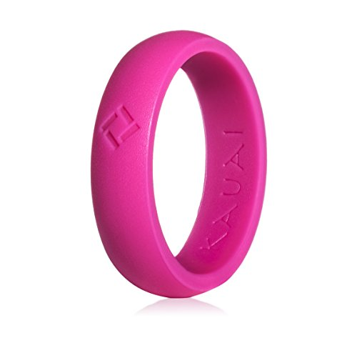 KAUAI - Silicone Wedding Rings -Leading Brand, from The Latest Artist Design Innovations to Leading-Edge Comfort: Pro-Athletic Ring Elegance Collection for Women (Differential Silicon)