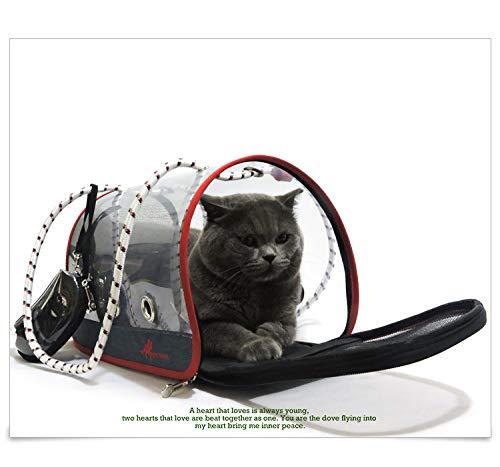Large Pet Backpack, Foldable Full Transparent pet Backpack Waterproof Wearable cat Dog Pet Travel Bag