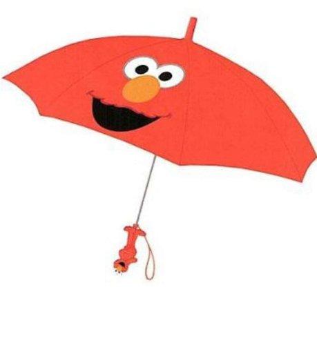 (Red Sesame Street Elmo Kids Umbrella with Character Handle)