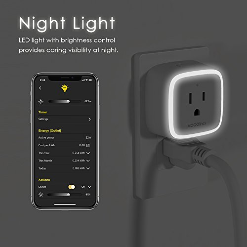 VOCOlinc PM1 Smart Wi-Fi Outlet Plug, Energy Monitoring, Adjustable Night Light, Works with Apple HomeKit, Alexa and Google Assistant, No Hub Required, Wi-Fi 2.4GHz (1 Pack) by VOCOlinc (Image #5)