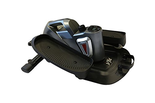 jfit Under Desk & Stand Up Mini Elliptical/Stepper w/Adjustable Angle | The Ideal Fitness & Exercise Equipment For Home| Ideal For Men, Women, Kids & Seniors| Premium Home Gym Equipment - Pewter