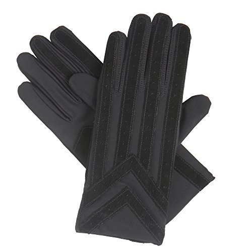 - isotoner Signature Men's Gloves, Spandex Stretch with Warm Knit Lining, Black, XL