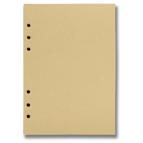 Ancicraft Refills Paper Inserts 6 Holes for Loose Leaf Binder Journal (Diary, Notebook) (A5: 5.7 x 8.25Inch(14.5x21cm), Blank craft paper)
