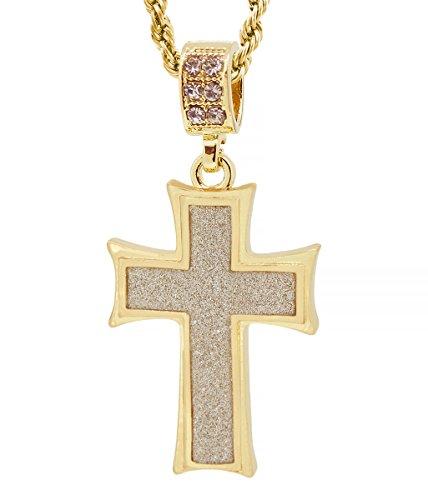 Hot new Gold Tone The Maltese Cross Men's Pendant Free 24