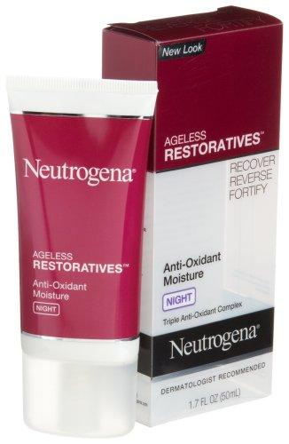 Neutrogena Ageless Restoratives Anti-Oxidant Moisture Night Cream, 1.7 Ounce