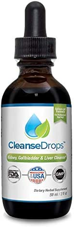 Cleanse Drops America s 1 Kidney Stones and Gallstones Support System Fast, All-Natural Liquid Formula