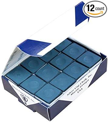 Box of 12 Geniune Silver Cup DARK BLUE NAVY chalks,