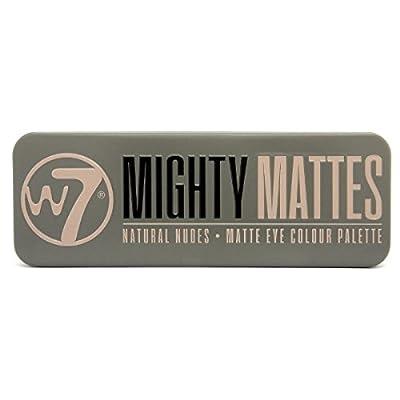 W7Mighty Mates paleta de sombras de colores mate naturales., 15,6g, 12piezas