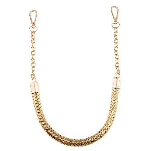 - MonkeyJack 6 Colors Metal PU Leather Braided Bag Strap Handbag Holder Handle Bag Chain Replacements - Gold