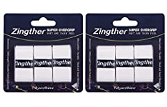 Zingther premium super tacky overgrip is called SUPER OVERGRIP because it features super tacky, soft, rubbery cushioning, strong self adherent and high-stretch felt for optimal grap feel while sweat absorbent and easy to dry. It's professiona...