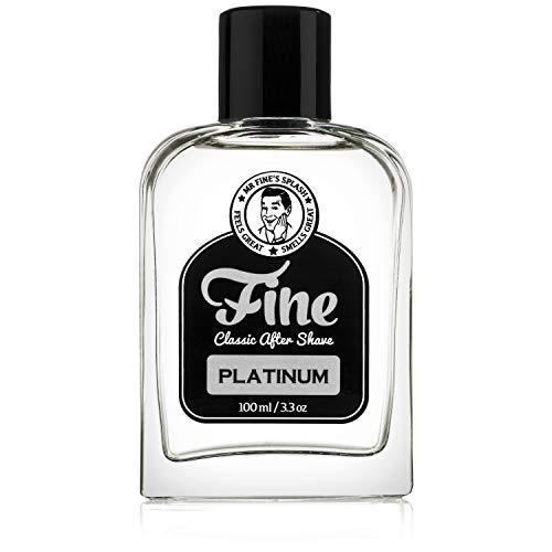 Fine Platinum Men's Aftershave - A Splash Of Classic Barbershop Aftershave for Modern Men - The Wet Shaver's Favorite (Best Men's Aftershave Splash)