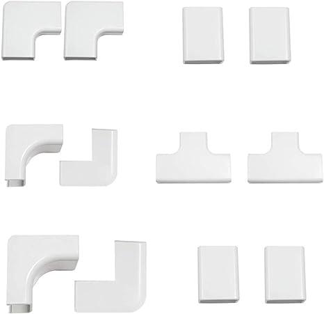 12 St/ück Multipack Discra Kabelkanal Clip 20 x 10 mm Zubeh/ör Magnolie