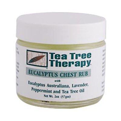 (Tea Tree Therapy Eucalyptus Chest Rub Eucalyptus Australiana Lavender Peppermint and Tea Tree Oil - 2 oz Pack of -1 by Tea Tree Therapy)