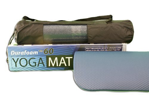 Extra Thick Yoga / Exercise / Pilates Mat: Durafoam 60 - With Carrying Bag by Teawan