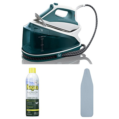 Rowenta DG7530 Compact Steam Station + Free Ironing Board and Starch Spray by Rowenta