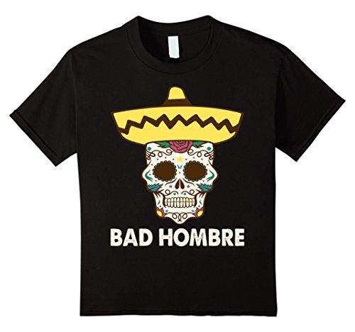 Bad Hombre Mexican Sugar Skull T-Shirt (Black)