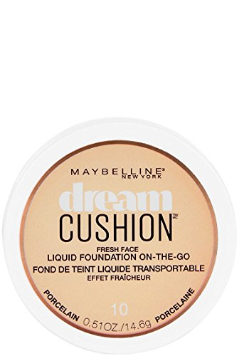 Maybelline Dream Cushion Fresh Face Liquid Foundation, Porcelain, 0.51 oz.