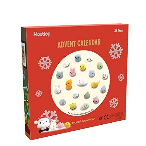 [해외]Manaror Christmas Advent Calendar24 Mochi Cute Squishies Including Santa Different Surprise Every DayNon-Toxic and Reusable?Great Sensory / Manaror Christmas Advent Calendar,24 Mochi Cute Squishies Including Santa Different Surpris...