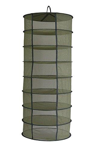 Green Hut 2ft 8 Layer Green Mesh Hanging Herb Drying Rack Dry Net