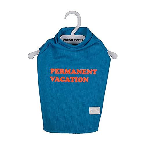 Camiseta Vacation Urban Puppy para Cães Azul - Tamanho 10