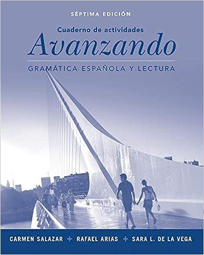 Amazon. Com: avanzando: gramática española y lectura, workbook, 7th.