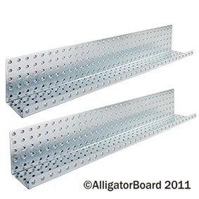 Alligator Board ALGSHELF5x32GALV 5 in. L x 32 in. W Metal Pegboard Shelves - Pack of 2