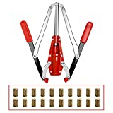 Double Lever Hand Corker For Standard Wine, Belgian Beer, and Synthetic Plastic Corks With 20pcs Free #7 size Cork (Red)