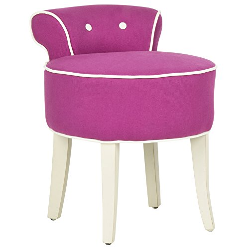 Bedroom Living Room Dresser (Safavieh Mercer Collection Georgia Vanity Stool, Fuchsia)