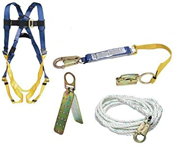 Werner K111201 Roofing Kit, 50-Foot Basic, Pass-Thru Buckle Harness, 1per  Pack - Fall Arrest Kits - Amazon.comAmazon.com