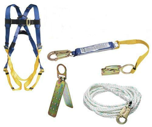 Werner K111201 Roofing Kit, 50-Foot Basic, Pass-Thru Buckle Harness, 1per Pack by Werner