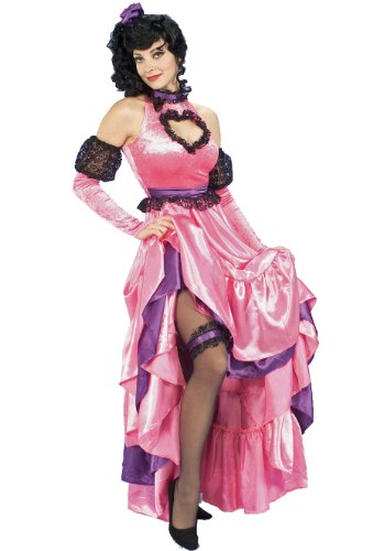 Purple Saloon Girl Costume (Forum Novelties Women's Saloon Girl Costume, Pink, Standard)
