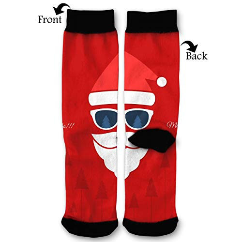 NRIEG Santa Claus Forest High Ankle Sock Men Women All Season Soft Cotton Breathable Printed Sport Compression Socks