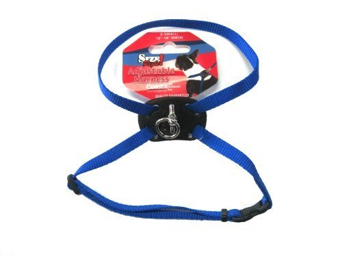 Harness Figure - Size Right Adjustable Dog Harness Blue 12 to 18 Inches Girth with a Width of 3/8 in.