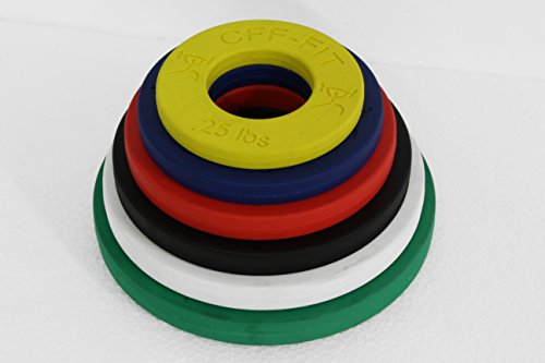 CFF Competition Rubber Fractional Weight Plates – 12.5 Lb Set w/ .25, .5, .75, 1, 1.25, & 2.5 Lb. Pairs