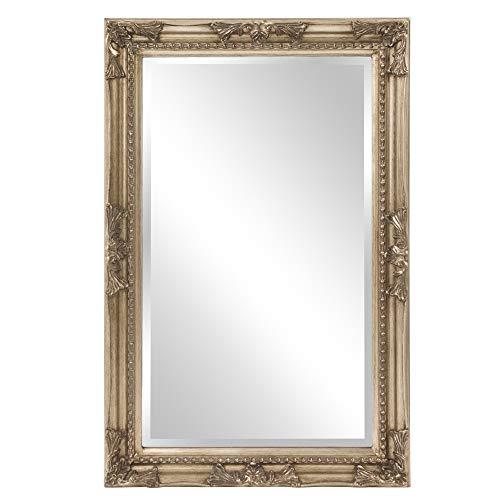 Ann Silver Queen - Howard Elliott 60016 Queen Ann Mirror, Antique Silver Leaf