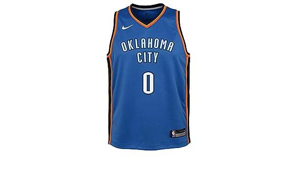 Nike NBA Oklahoma City Thunder Russell Westbrook 0 2017 2018 Icon Edition Jersey Oficial Away, Camiseta de Niño: Amazon.es: Ropa y accesorios